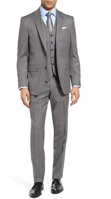 Ted Baker Jay Trim Fit Solid Wool Suit