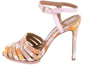 Tory Burch Woven Multistrap Sandals