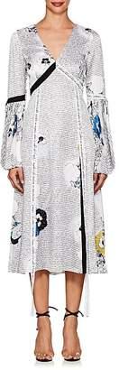 Prabal Gurung WOMEN'S MIXED-PRINT SILK CHARMEUSE DRESS