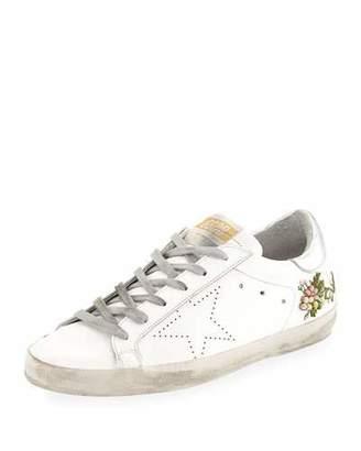 Golden Goose Superstar Floral Leather Sneakers