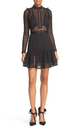 Women's Self-Portrait Hall Lace Mesh Minidress $475 thestylecure.com