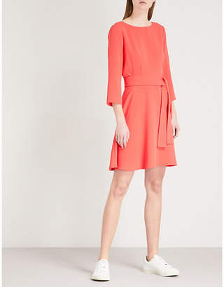 Claudie Pierlot Belted crepe dress