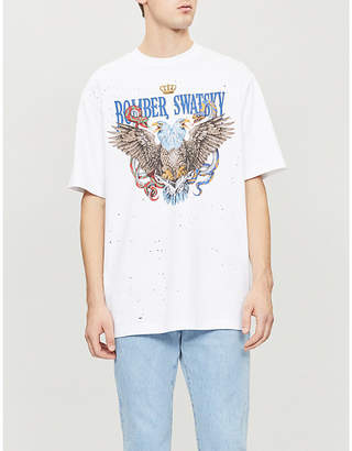 SWATSKY Double Head cotton-jersey T-shirt