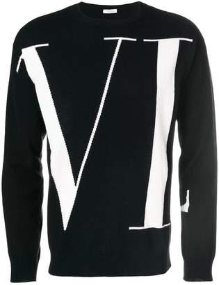 Valentino logo patterned sweater