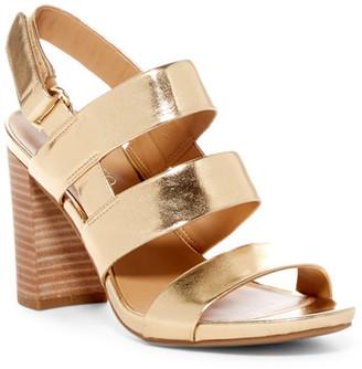 Franco Sarto Jena Metallic Sandal $89 thestylecure.com