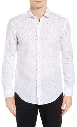BOSS Ridley Dot Slim Fit Sport Shirt