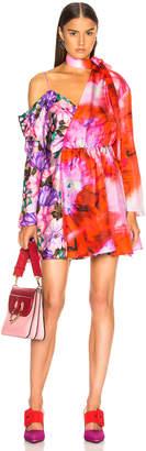 MSGM Printed Habotai Dress