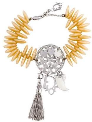 Christian Dior Faux Pearl Charm Bracelet