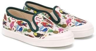 Pépé 'Tropical' print deck shoes