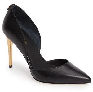Women's Calvin Klein Sebrina Metallic Heel D'Orsay Pump $128.95 thestylecure.com