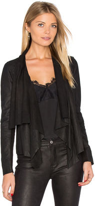 Muubaa Kirbie Drape Front Jacket $396 thestylecure.com