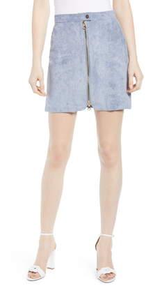 Bishop + Young Exposed Zip Miniskirt