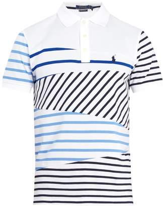 Polo Ralph Lauren Logo-embroidered striped cotton-piqué polo shirt