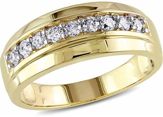 Miabella 1/2 Carat T.W. Diamond 10kt Yellow Gold Semi-Eternity Men's Ring