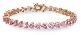 Nina Easton Pink Crystal Heart Link Bracelet