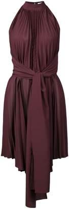 Tome long waist-tied sleeveless top