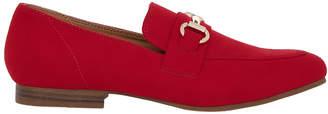 Miss Shop Dennis Red Suede Loafer