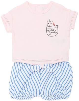 Little Marc Jacobs Cotton Jersey T-Shirt & Shorts