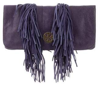 Tory Burch Fringe Leather Clutch