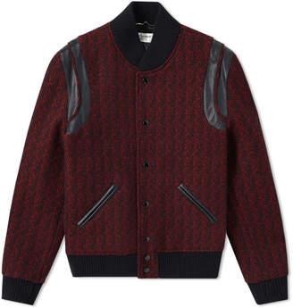 Saint Laurent Wool Jacquard Teddy Jacket