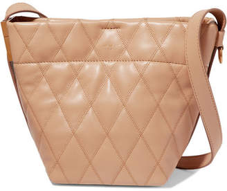 Givenchy Gv Mini Quilted Leather Bucket Bag - Camel