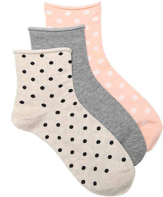 Kelly & Katie Polka Dots Ankle Socks - 3 Pack - Women's