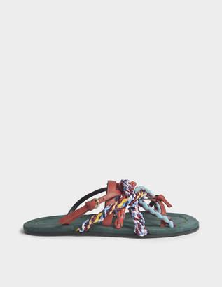 Carven Turenne Slip On Sandals in Safari Leather