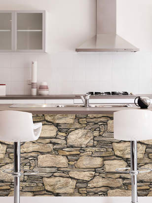 Brewster Hadrian Stone Wall Peel and Stick Wallpaper