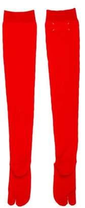 Maison Margiela Wool Thigh-High Socks Red Wool Thigh-High Socks