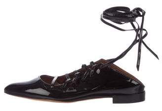Givenchy Patent Leather Lace-Up Flats