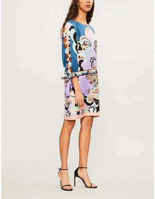 Emilio Pucci Dropped-waist silk-twill dress