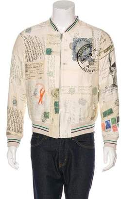 Alexander McQueen 2016 Letters From India Bomber Jacket