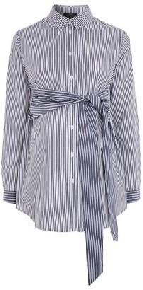 Women's Topshop Tie Front Stripe Maternity Shirt $68 thestylecure.com