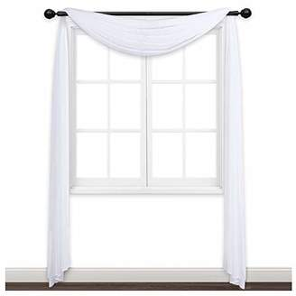 NICETOWN Sheer Curtains Panels 216 - Home Decoration Sheer Voile Scarf Valance for Wedding (1-Pack