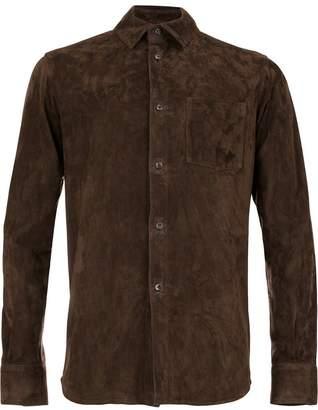 Ajmone leather shirt jacket