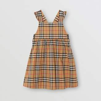 Burberry Childrens Ruffle Detail Vintage Check Cotton Dress