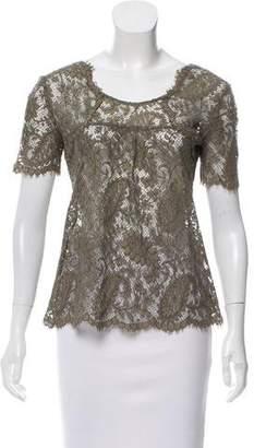 Etoile Isabel Marant Lace Short Sleeve Top