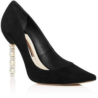 Sophia Webster Women's Coco Pointed Toe Crystal & Faux Pearl Pumps