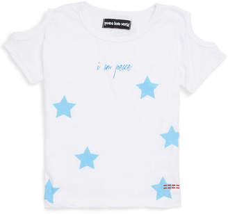 Peace Love World Girl's Tati Cold-Shoulder Printed Top