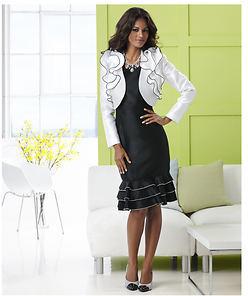 Stacy Adams Ruffled Jacket Dress $99.95 thestylecure.com