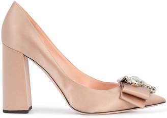 Rochas embellished bow pumps