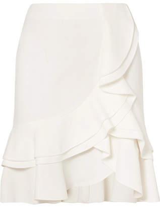 Ruffled Crepe Skirt - Off-white