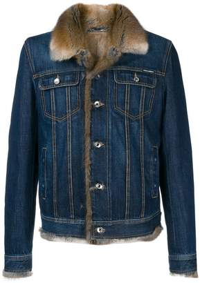 Dolce & Gabbana fur lined denim jacket