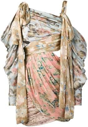 Zimmermann asymmetric floral print dress