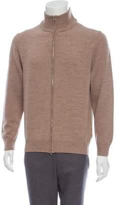 Maison Margiela Wool Zip-Up Sweater