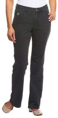 "Factory Quacker DreamJeannes"" Short 5 Pocket Knit Denim Boot Cut Pants"