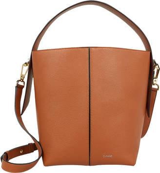 Cushnie Brown Leather Bucket Bag