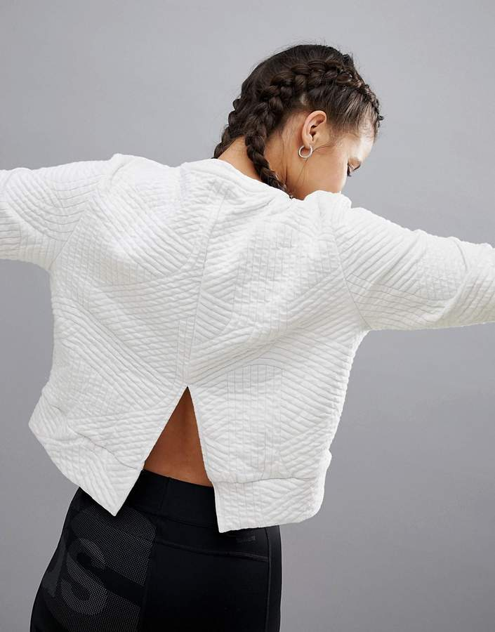Training – Weißes Sweatshirt