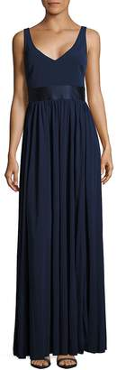 Vera Wang Women's Solid Sleeveless Gown