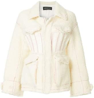 Undercover short shearling jacket